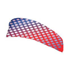 Dots Red White Blue Gradient Stretchable Headband