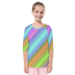 Background Course Abstract Pattern Kids  Quarter Sleeve Raglan Tee