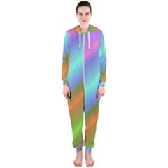 Background Course Abstract Pattern Hooded Jumpsuit (ladies)