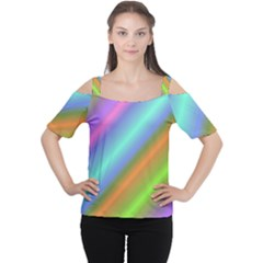 Background Course Abstract Pattern Cutout Shoulder Tee