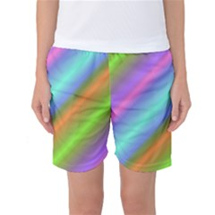 Background Course Abstract Pattern Women s Basketball Shorts