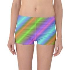 Background Course Abstract Pattern Reversible Boyleg Bikini Bottoms