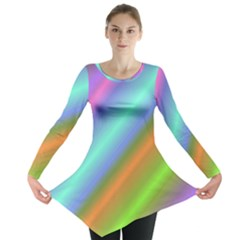 Background Course Abstract Pattern Long Sleeve Tunic