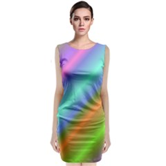 Background Course Abstract Pattern Classic Sleeveless Midi Dress