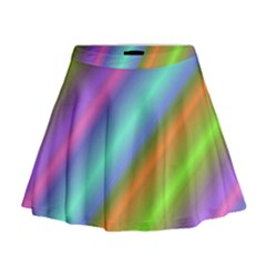Background Course Abstract Pattern Mini Flare Skirt