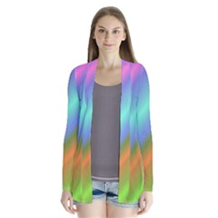 Background Course Abstract Pattern Drape Collar Cardigan