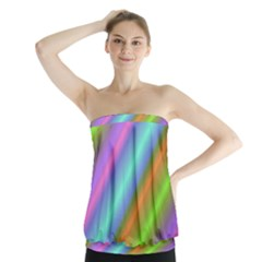 Background Course Abstract Pattern Strapless Top