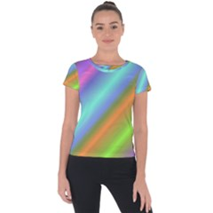 Background Course Abstract Pattern Short Sleeve Sports Top