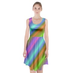 Background Course Abstract Pattern Racerback Midi Dress