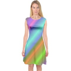 Background Course Abstract Pattern Capsleeve Midi Dress
