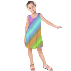 Background Course Abstract Pattern Kids  Sleeveless Dress