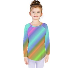 Background Course Abstract Pattern Kids  Long Sleeve Tee