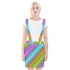 Background Course Abstract Pattern Braces Suspender Skirt
