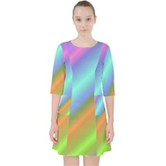 Background Course Abstract Pattern Pocket Dress