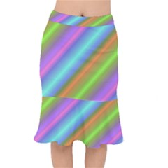 Background Course Abstract Pattern Mermaid Skirt