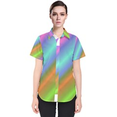 Background Course Abstract Pattern Women s Short Sleeve Shirt