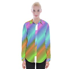 Background Course Abstract Pattern Womens Long Sleeve Shirt