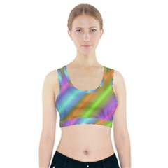 Background Course Abstract Pattern Sports Bra With Pocket