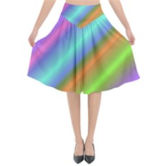Background Course Abstract Pattern Flared Midi Skirt