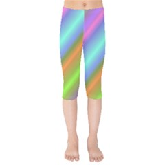 Background Course Abstract Pattern Kids  Capri Leggings