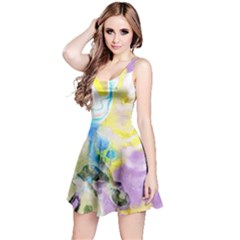 Watercolour Watercolor Paint Ink Reversible Sleeveless Dress
