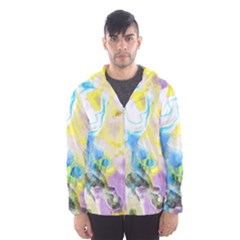 Watercolour Watercolor Paint Ink Hooded Wind Breaker (men)