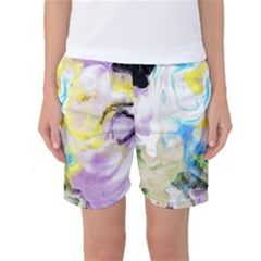 Watercolour Watercolor Paint Ink Women s Basketball Shorts