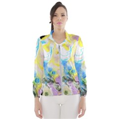 Watercolour Watercolor Paint Ink Wind Breaker (women)