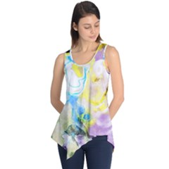 Watercolour Watercolor Paint Ink Sleeveless Tunic
