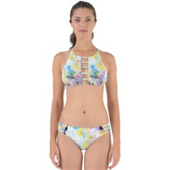 Watercolour Watercolor Paint Ink Perfectly Cut Out Bikini Set