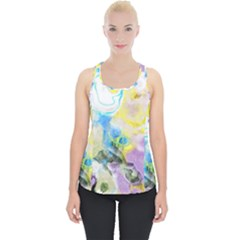 Watercolour Watercolor Paint Ink Piece Up Tank Top