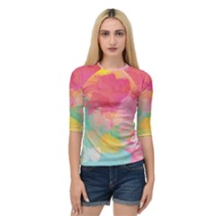 Watercolour Gradient Quarter Sleeve Raglan Tee