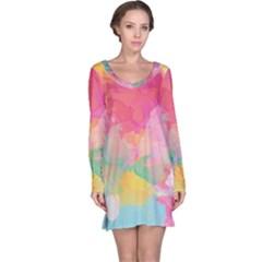 Watercolour Gradient Long Sleeve Nightdress