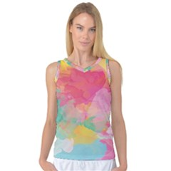 Watercolour Gradient Women s Basketball Tank Top