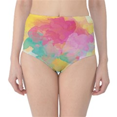 Watercolour Gradient High Waist Bikini Bottoms
