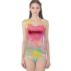 Watercolour Gradient One Piece Swimsuit