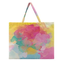 Watercolour Gradient Zipper Large Tote Bag
