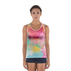 Watercolour Gradient Sport Tank Top
