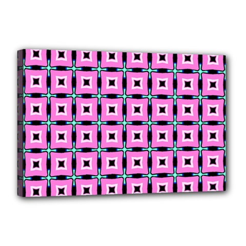 Pattern Pink Squares Square Texture Canvas 18  X 12
