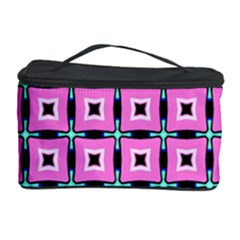 Pattern Pink Squares Square Texture Cosmetic Storage Case