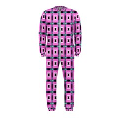 Pattern Pink Squares Square Texture Onepiece Jumpsuit (kids)