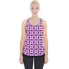 Pattern Pink Squares Square Texture Piece Up Tank Top