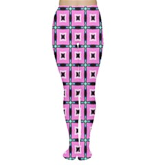 Pattern Pink Squares Square Texture Women s Tights