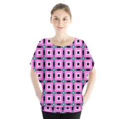 Pattern Pink Squares Square Texture Blouse