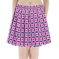 Pattern Pink Squares Square Texture Pleated Mini Skirt