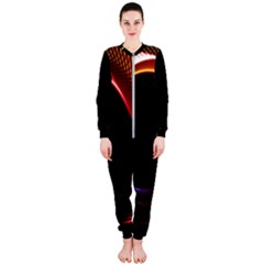Grid Bent Vibration Ease Bend Onepiece Jumpsuit (ladies)