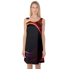 Grid Bent Vibration Ease Bend Sleeveless Satin Nightdress