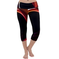 Grid Bent Vibration Ease Bend Capri Yoga Leggings
