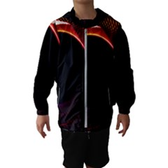 Grid Bent Vibration Ease Bend Hooded Wind Breaker (kids)
