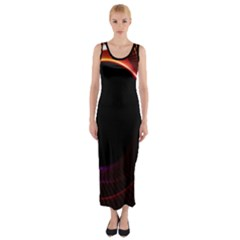 Grid Bent Vibration Ease Bend Fitted Maxi Dress